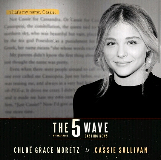 ... for the 5th wave the upcoming adventure science fiction thriller